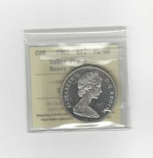 **1965 SB/PTD 5 Type#1** ICCS Graded Canadian Silver Dollar **PL-66 HC**
