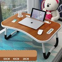 Laptop Bed Tray Table Portable Lap Desk Notebook Breakfast Tray Cup Slot Holder