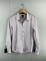 Yd. Men's Long Sleeve Button Up Slim Fit Shirt Size S Pink
