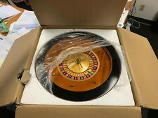 "20"" Solid Wood Roulette Wheel for Roulette Tables w/Deluxe Roulette Pins"