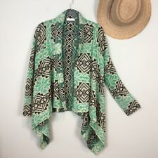 Grace & Lace Cardigan L/XL Waterfall Sweater Green