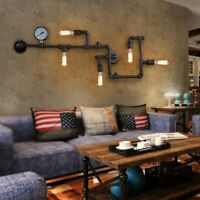 Industrial Vintage Wall Light Fixture Water Pipe Steampunk Wall Sconce Lamp Bar