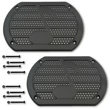 Black Music Note Speaker Cover Screen Grill Vintage Hot Street Rod Lowrider Pair