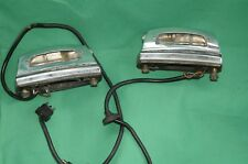 Mercedes W108 W109 W111 250 280 300 S SE Chrome Rear License Tag Plate Lights