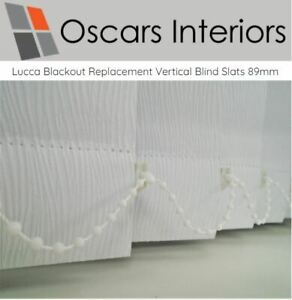 "Lucca Cheap, Blackout Made To Measure Vertical Blind Replacement Slats 3.5"" 89mm"