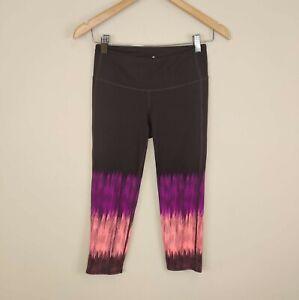Athleta Chaturanga Capri Crop Leggings Brown Pink Coral XS 983253