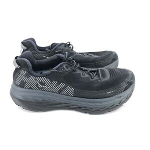B33) Hoka One One Bondi 5 Athletic Running Walking Shoes Black Men's Size 14 2E
