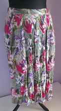 VTG 90s Ladies White/Pink/Lilac Lined Indian/Hippy Style Skirt Size 18 (E4)