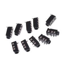 10 Pcs PJ-320D 4 Pins SMD 3.5mm Female Headphone Jack Connector PCB Mount ^P