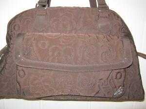 VERA BRADLEY Diaper Bag ESPRESSO Brown Microfiber 10 x 17 x 6 GUC