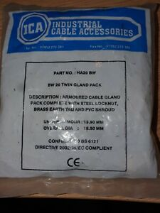 ICA HA20BW BW20 Twin Gland Pack for Armoured Cable