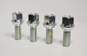 4 Wheel Bolts Nuts Lugs SKODA OCTAVIA (5 Bolt) M14x1.5, 27mm,17 Hex