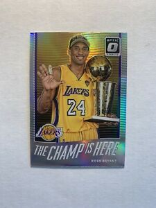 Kobe Bryant 2017-18 Donruss Optic The Champ Is Here Silver Holo Prizm Lakers HOF