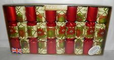 ROBIN REED Holiday CHRISTMAS CRACKERS Set of 10 in Box 8.5 Inch Size Poinsettias