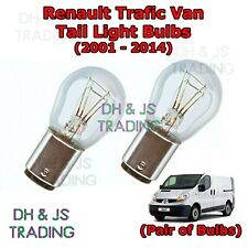 Renault Trafic Tail Light Bulbs Pair of Rear Tail Light Bulb Lights Van (01-14)