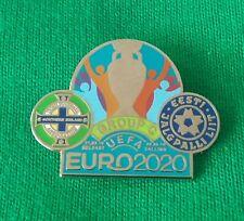 NORTHERN IRELAND v ESTONIA - EURO 2020 - GROUP C  - DUAL MATCH BADGE - LAST ONE