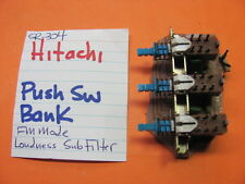 HITACHI PUSH SWITCH BANK FM MODE LOUDNESS SUBSONIC FILTER SR-304 RECEIVER