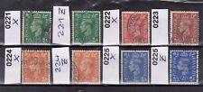 Großbritannien Michel-Nr. 221 X + 221 Z + 222 X + 223 + 224 X+Z + 225 X+Z  o