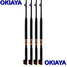 "OKIAYA COMPOSIT 30-80LB ""THE MACK DADDY"" SALTWATER BIG GAME ROLLER ROD Set of 4"