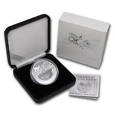 Rare Fiji 2012 Large Silver Proof 1$ Nature-Smoky Quartz-mintage 1000/Box