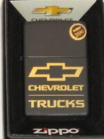 New USA Windproof Zippo Lighter 80271 Chevy Chevrolet  Trucks Engraved BK Matte