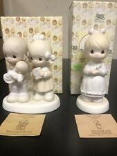Precious Moments Lot of 2 Rejoicing With You E-4724, Good Lord Always Delivers