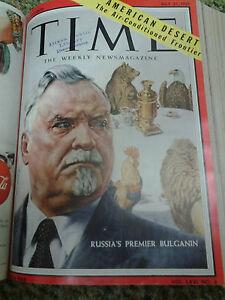 Bound Time Magazine Dec 1954-Sept. 1958 Rare Vintage Magazine