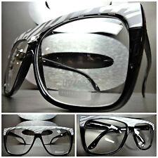 Women's OVERSIZE VINTAGE RETRO Clear Lens EYE GLASSES Black Fashion Frame Zebra