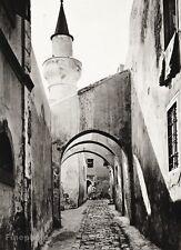 1934 Vintage 11x14 LIBYA Tripoli Brick Alley Architecture Photo Art ~ HURLIMANN