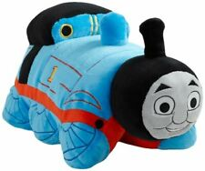 """Pillow Pets Thomas The Tank Engine Friends Large Blue / Red 18"""" Train Full Size"""