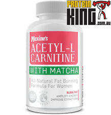 MAXINES ACETYL L CARNITINE WITH MATCHA 100 CAPS ALL NATURAL WOMENS FAT BURNER