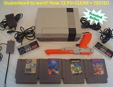 Nintendo NES Console Bundle NEW PINS Game lot Super Mario Tetris TMNT Zapper