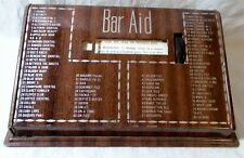 Vintage 1950s tin Bar Aid 80 Classic mixed drinks cocktail recipes guide Rolodex