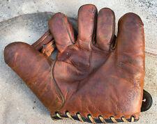 Vtg 40s Bucky Walters JC Higgins Baseball Glove Mitt Rare Triple Crown WSC Rare