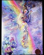 JOSEPHINE WALL Girl Rainbow Wings Stairs Irises Fantasy - Hope Greeting Card NEW