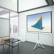 84 Inch 169 Hd Projector Screen Tripod Stand Matte Pull Up Projection Screens