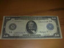 1914 50 DOLLAR USA - BANKNOTE FEDERAL RESERVE BANK