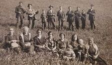 1910's Marion Italian RPPC Of Gypsy Family Band Guns Children Drinking Wine