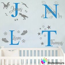 Personalised Name Wall Art Sticker - Letter Baby Boys Bedroom Nursery Decal Cot
