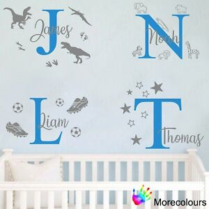 Personalised Name Wall Art Sticker Letter Baby Boys Girls Bedroom Nursery Decal