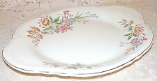 Edwin M. Knowles China Co Serving Platter Semi Vitreous Floral Blue Pink Yellow