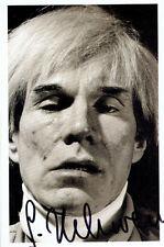 "Gottfried Helnwein AUTOGRAFO AUTOGRAPH SIGNED CARD ""Andy Warhol"""