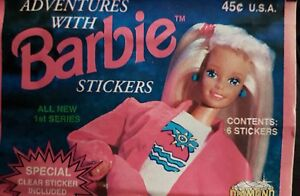 ADVENTURES WITH BARBIE X5O LOOSE STICKERS