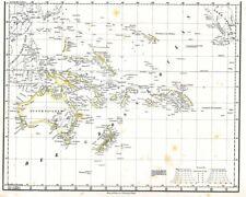 🎄🕯 Alte Landkarte AUSTRALIA Papua Neuguinea Pazifik Südsee Newzealand 1842