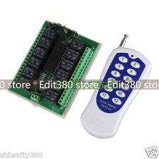 12Ch 10 A RELAIS DC12v sans fil programmables RF Télécommande Transmetteur + Récepteur