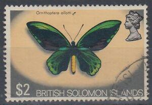 SOLOMON ISLANDS 1972 $2 BUTTERFLY (ID:239/D53175)