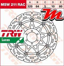 Disque de frein Avant TRW Lucas MSW 211 RAC pour Benelli 899 Century Racer 2011-