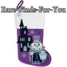 "Disney Parks The Haunted Mansion ""Hatbox Ghost"" Christmas Holiday Stocking (NEW)"