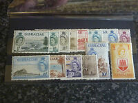 GIBRALTAR POSTAGE STAMPS SG 145-158 1953-59 LIGHTLY MOUNTED MINT
