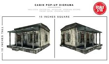 Extreme Sets CABIN Pop-Up 1/18 3.75 inch Figures Diorama  S8 IN STOCK!